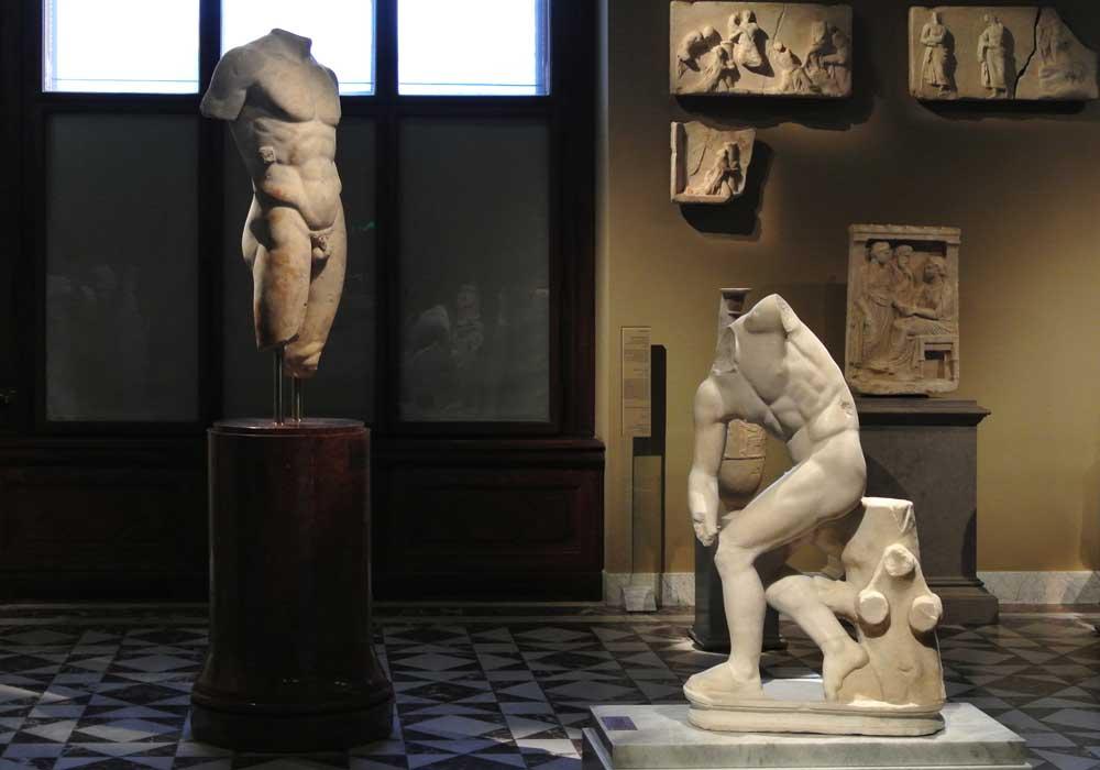 Las habitaciones de arte de Grecia clásica y de la antigua Roma