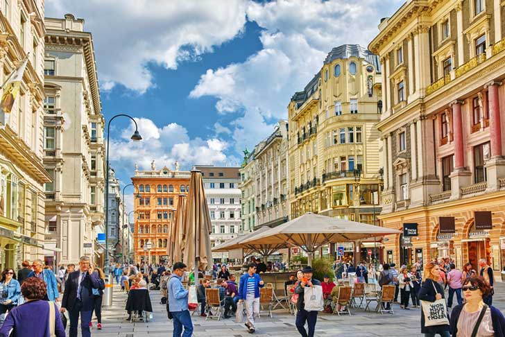El Centro de Viena, Austria