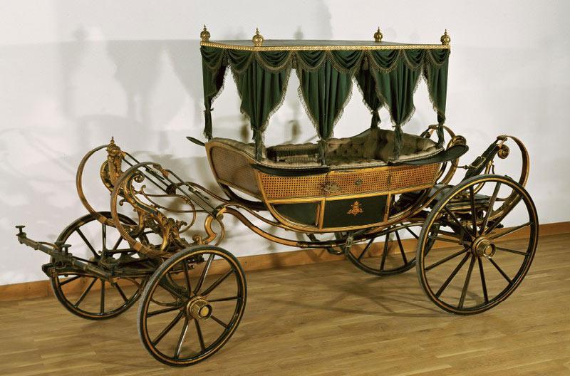 El coche de niños que perteneció al hijo de Napoleón.
