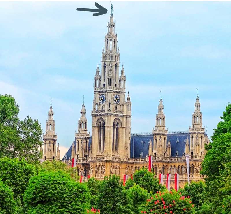 hombre de hierro del Ayuntamiento de Viena
