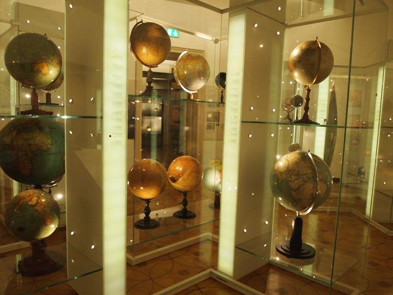 interior museo glogo terraqueo