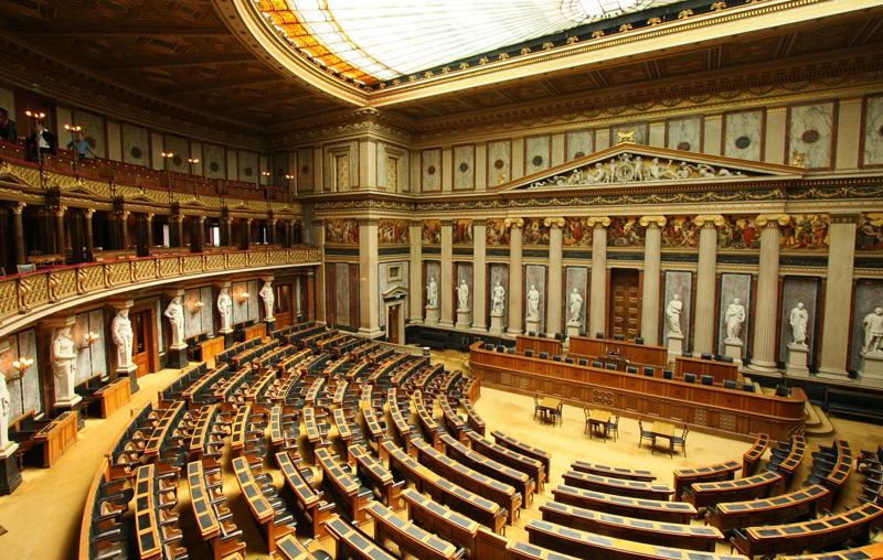 Interior del Parlamento