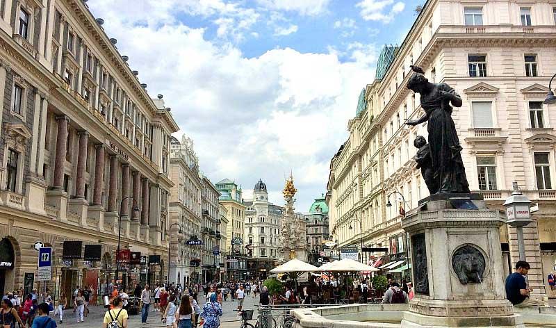 Moverse por Viena a pie