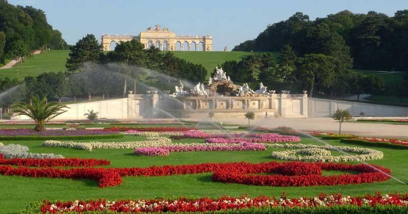parque del palacio de Schönbrunn