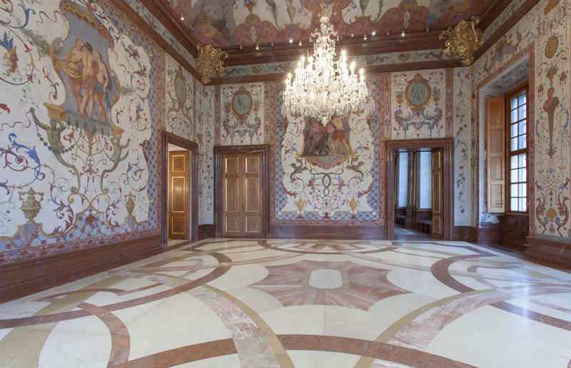 La Sala de los Grotescos cuenta con algunas famosas pinturas grotescas